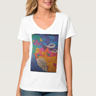 Camiseta Imagen colorida sobre fondo pacífico