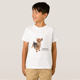 Camiseta Imagen del mascota para los niños T-Camisa-Blancos