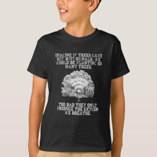Camiseta Imagínese si los árboles emitieron las señales de