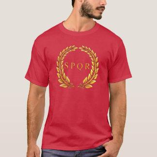 Camiseta imperial romana del laurel de SPQR