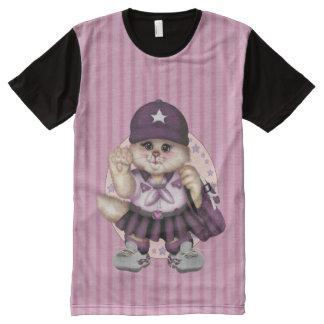 Camiseta impresa ropa del CHICA M.American del CAT
