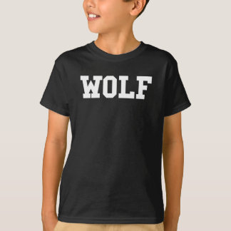 Camiseta Impresión agradable del lobo