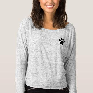 Camiseta Impresión animal de la pata
