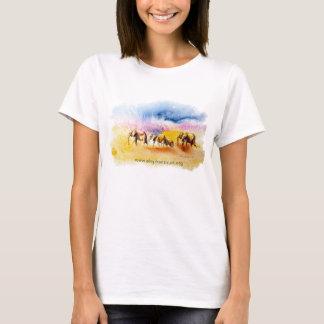 Camiseta Impresión de la manada del elefante de Amboseli