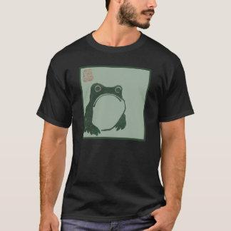 Camiseta Impresión del japonés de la rana