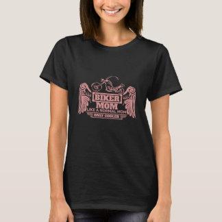 Camiseta Impresión del rosa de la motocicleta de la mamá