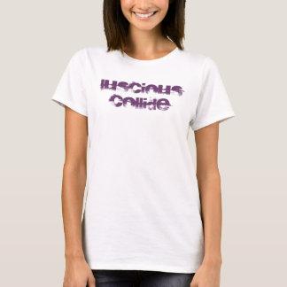 Camiseta Impresión púrpura de la acera del LC