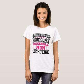 Camiseta impresionante de la mamá del béisbol