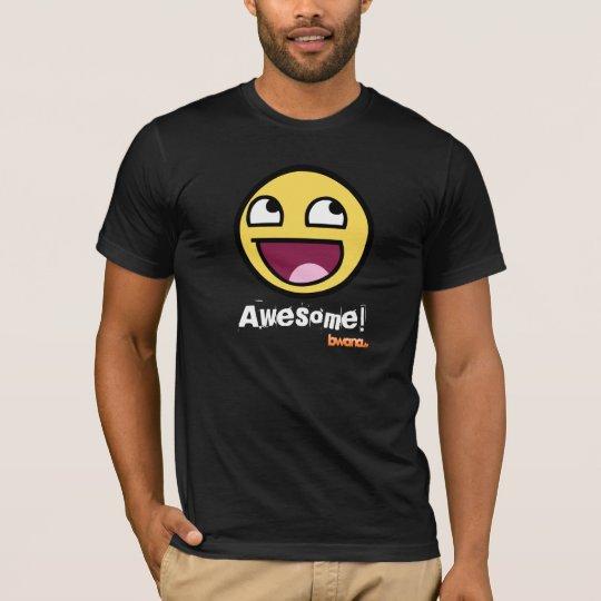 Camiseta impresionante del AA del negro de