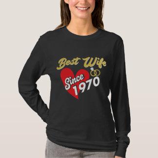 Camiseta impresionante para la esposa desde 1970.