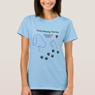 Camiseta Impresiones veterinarias de la Enfermera-Pata en
