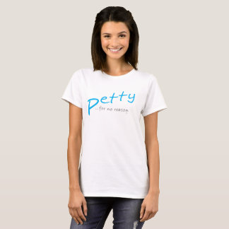 Camiseta inclinada pequeña azul clara