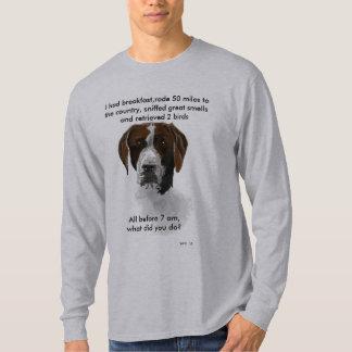 Camiseta Indicador de pelo corto alemán, desafío del perro