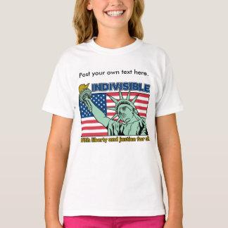 Camiseta Indivisible: Con libertad y justicia para todos