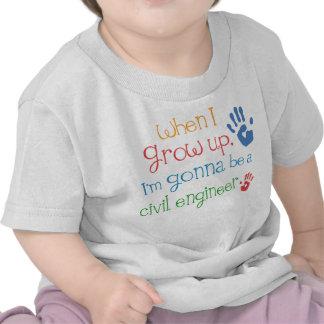 Camiseta infantil civil del bebé del ingeniero