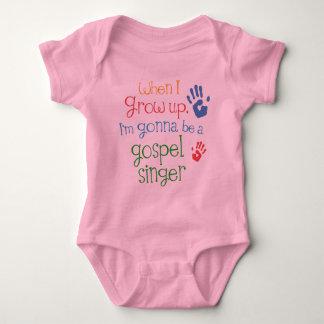 Camiseta infantil del bebé del cantante del