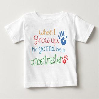 Camiseta infantil del bebé del Concertmaster