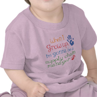 Camiseta infantil del bebé del encargado de la
