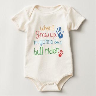 Camiseta infantil del bebé del jinete de Bull