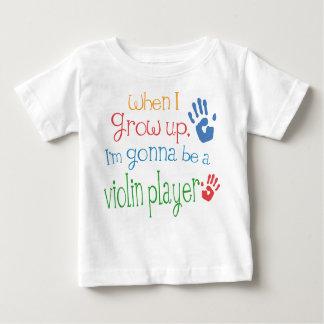 Camiseta infantil del bebé del jugador del violín