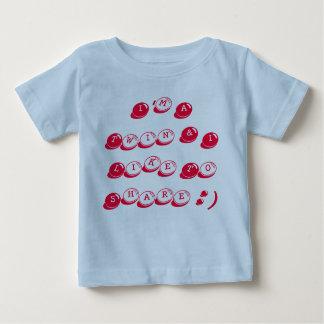 Camiseta infantil del jersey azul del algodón,