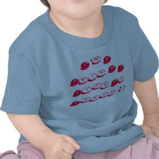 Camiseta infantil del jersey azul del algodón gem