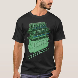 Camiseta Ingeniero marino (HOMBRE) - negro