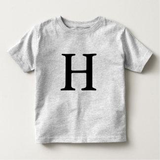 Camiseta inicial con monograma de la letra H