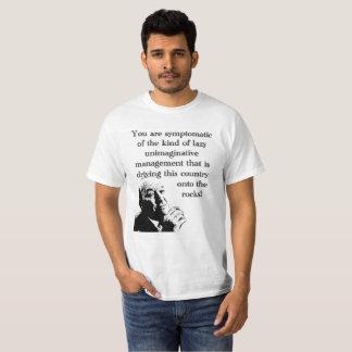 Camiseta inimaginativa de la gestión del trabajo