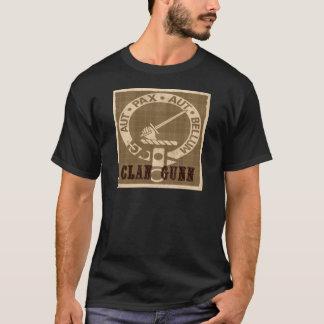 Camiseta Insignia del escudo de Gunn del clan - sepia