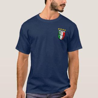 Camiseta Insignia italiana del emblema de la bandera