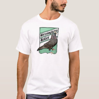 Camiseta Insignia verde para los fanáticos del rodillo de
