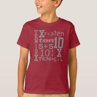 Camiseta inspirada MATEMÁTICAS del CUMPLEAÑOS de