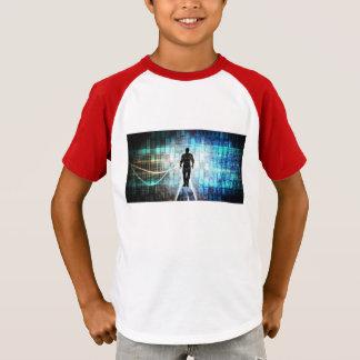 Camiseta Instrucción de Digitaces como concepto Backgroun