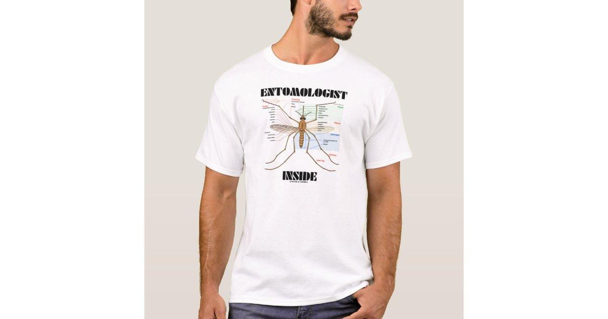 Camiseta Interior del entomólogo (anatomía del mosquito) | Zazzle.es