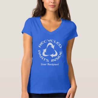 Camiseta Interior reciclado de las piezas - con el texto