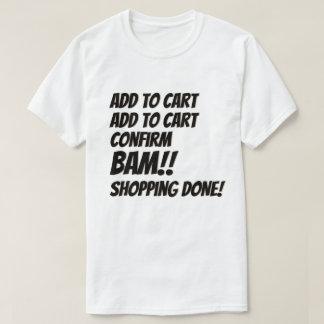 Camiseta Internet que hace compras de lunes del navidad