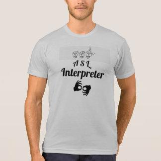 Camiseta Intérprete del ASL