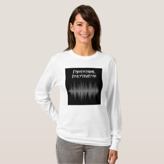 Camiseta Investigador paranormal Soundwave para mujer