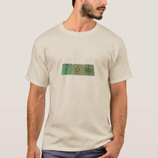 Camiseta Iona como sodio del oxígeno del yodo