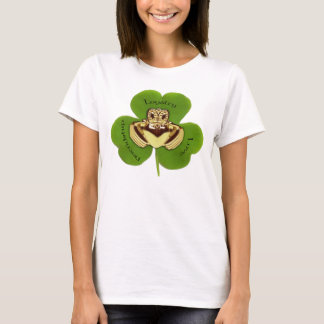 Camiseta Irlandés Claddaugh con el trébol, camisetas, ropa