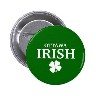 Camiseta irlandesa de encargo orgullosa de la ciud chapa redonda de 5 cm