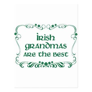 Camiseta irlandesa de la abuela postal