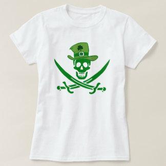 Camiseta irlandesa de la bandera del cráneo del