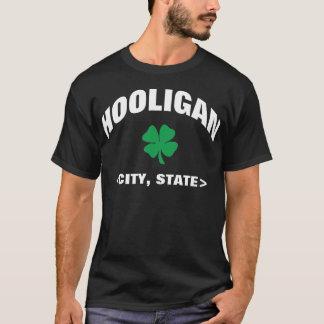 Camiseta irlandesa negra personalizada del