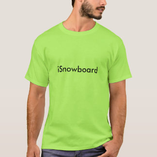 Camiseta iSnowboard