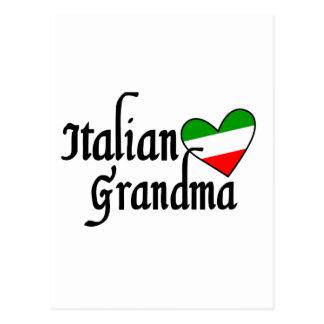Camiseta italiana de la abuela postal
