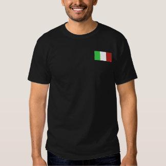 CAMISETA ITALIANA DE LA CAMISETA DE LA BANDERA
