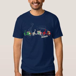 Camiseta italiana de la vespa