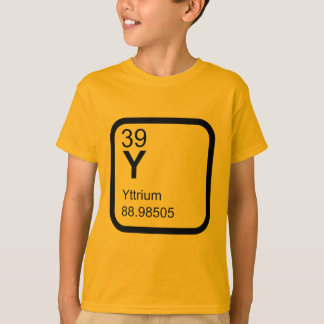 Camiseta Itrio - diseño de la ciencia de la tabla periódica